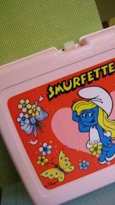 pink smurfette lunchbox